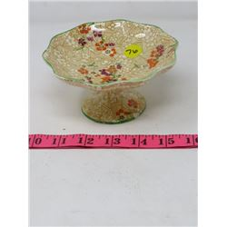 CANDY DISH (ROYAL WINTON IVORY) CHINTZ STYLE *CHIPPED*