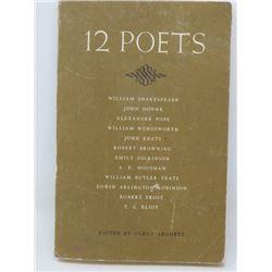 12 POETS' (EDITED BY GLENN LEGGETT) *WILLIAM SHAKESPEARE, JOHN KEATS, ETC* (1964)