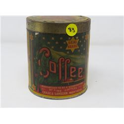 COFFEE TIN (SEAL BRAND) *CHASE & SANBORN, MONTREAL*