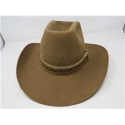 COWBOY HAT (RESISTOL STAGECOACH) *BROWN FELT, SIZE 7 3/8* *W/BILTOMORE HAT BOX* *NOS*