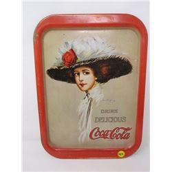"COCA-COLA TRAY (DRINK DELICIOUS) *RECTANGLE 11"" X 15""*"