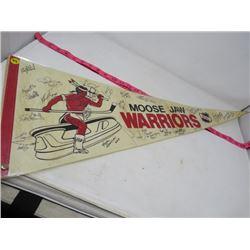 HOCKEY PENNANT (MOOSE JAW WARRIORS) *1990-91* (LAMINATED)
