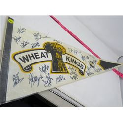 HOCKEY PENNANT (BRANDON WHEAT KINGS) *1993-94* (LAMINATED)