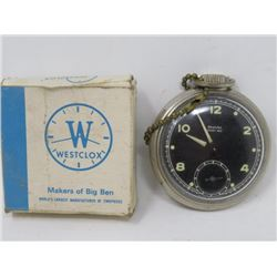 POCKET WATCH (WESTCLOX) IN ORIGINAL BOX