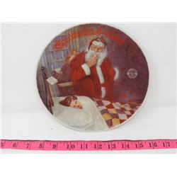 COLLECTOR PLATE (BRADFORD EXCHANGE) *DEER SANTY CLAUSE* (13TH IN ROCKWELL'S ANNUAL SERIES)