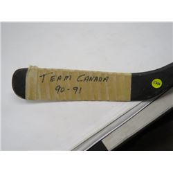 AUTOGRAPHED HOCKEY STICK (1990-91 TEAM CANADA)