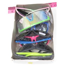 LOT OF 8 SUNGLASSESS (NEON) N.O.S.