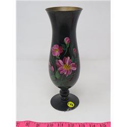 "GLASS VASE (HAND PAINTED) *10.25""T*"