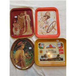COCA COLA COLLECTOR TRAYS (QTY 4)