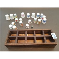 COLLECTOR THIMBLES (QTY 21) *20 ARE CERAMIC*