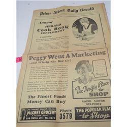 NEWSPAPER SUPPLEMENT (P.A. DAILY HERALD) *1936*
