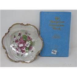 SERVING DISH (CERAMIC) & BATHROOM INSPIRATION BOOK
