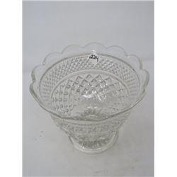 BOWL ON PEDESTAL (TALL ANCHOR HOCKING GLASS)