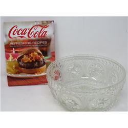SALAD BOWL (LARGE GLASS), COOK BOOK (COCA-COLA)
