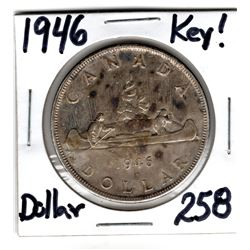 1946 SCARCE DATE SILVER DOLLAR