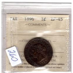 1896 LARGE CENT *ICCS CERTIFIED*