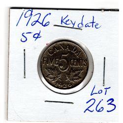 1926 FIVE CENTS *KEY DATE*
