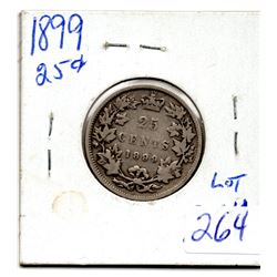 1899 TWENTY FIVE CENT PIECE