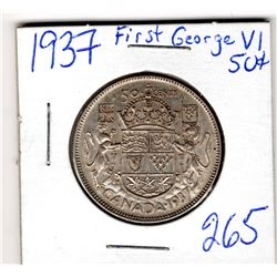 1937 50 CENT PIECE *FIRST GEORGE THE SIXTH YEAR*