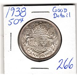 1938 50 CENT PIECE