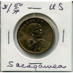 """2014 USA """"SACAGAWEA"""" 1 DOLLAR PC (NATIVE HOSPITALITY)"""