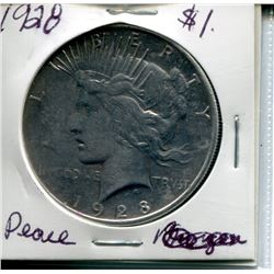 "1928 USA SILVER ""PEACE"" DOLLAR"