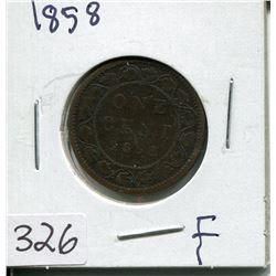 1858 CNDN LARGE 1 CENT PC