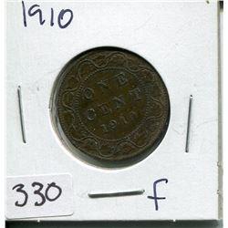 1910 CNDN LARGE 1 CENT PC