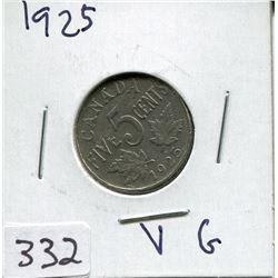 1925 CNDN 5 CENT PC