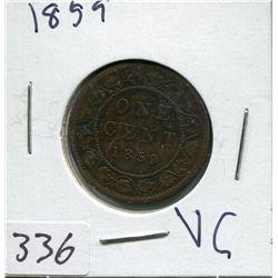 1859 CNDN LARGE 1 CENT PC