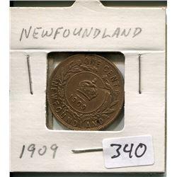 1909 NEWFOUNDLAND 1 CENT PC