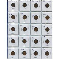 BINDER OF USA 1 CENT PCS (INCLUDES 1888, 99, INDIAN HEADS, ETC; QTY 148)