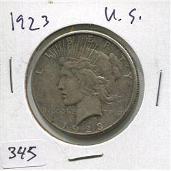 "1923 USA SILVER ""PEACE"" DOLLAR"