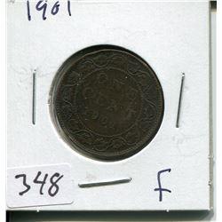 1901 CNDN LARGE 1 CENT PC