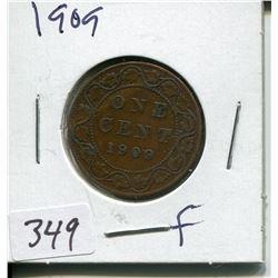 1909 CNDN LARGE 1 CENT PC