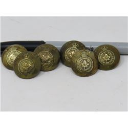 6 BRASS BUTTONS (CANADIAN FORCES)