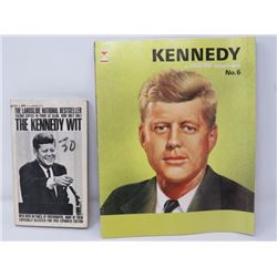 LOT OF 2 J.F. KENNEDY COLLECTIBLES (A HAMOND TEMPORAMA, 'THE KENNEDY WIT'