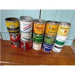 LOT OF 15 ASSORTED TOBACCO TINS