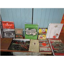 LOT OF MANUALS & BROCHURES (CAR, FARM, TRACTOR ETC. )