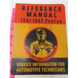 REFERENCE MANUAL (PONTIAC) *1941-42*