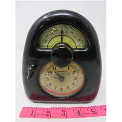 CLOCK (BAKELITE HAWKEYE MODEL L) *VINTAGE AM* MEASURED TIME (STEVENSON MF. CO)
