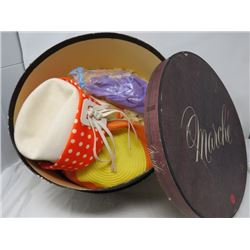 HATS IN HAT BOX (VINTAGE)