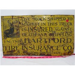 "FIRE INSURANCE SIGN (HARTFORD) *19½"" X 11""*"
