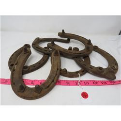 LOT OF 6 ASSORTED *HORSESHOES*