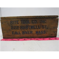 WOOD BOX *RITE TOOL CO. INC*