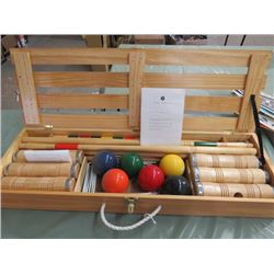 CROQUET GAME (IN WOODEN CASE) *NEW 33 INCH*