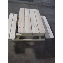 "CHILD'S PICNIC TABLE (31 3/4"" X 41"" X 19"" TALL) *HANDMADE BY GORDON BRAATEN*"