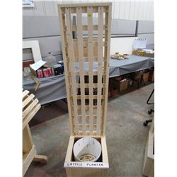 "LATTICE PLANTERS (60"" TALL, 15""  D X 15"")  *HANDMADE BY GORDON BRAATEN*"
