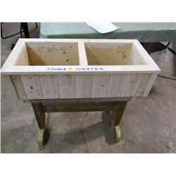 "DOUBLE PLANTER (31"" X 14"" X 30"" TALL) *HANDMADE BY GORDON BRAATEN*"