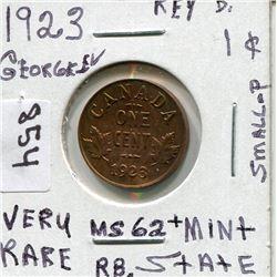 1923 CNDN PENNY (GEORGE V) *KEY D* VERY RARE!